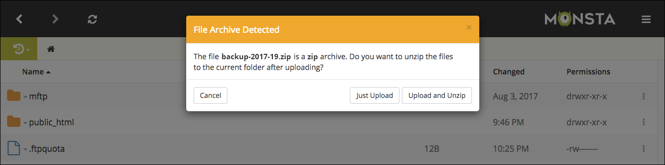 How to unzip files with Monsta FTP - Monsta FTP
